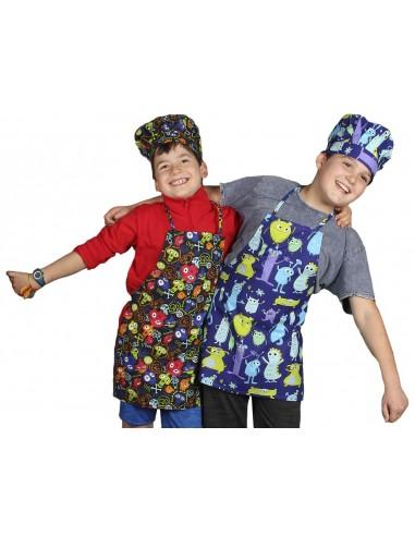 Delantal cocina infantil multiestampados