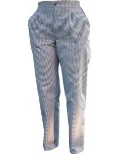 Pantalón con pinzas cuadro...