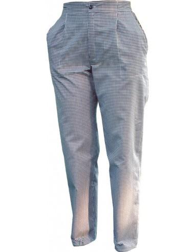 Pantalón con pinzas cuadro marino