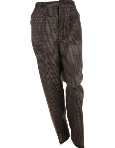 Pantalón con pinzas cuadro negro