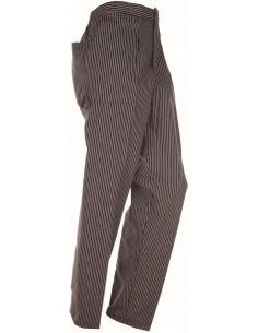 Pantalón con pinzas raya negra